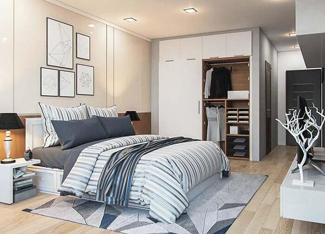 Thiết kế phòng ngủ con trai nhà phố 3 tầng 4x16m 1