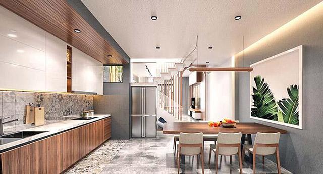 Thiết kế phòng ăn nhà phố 3 tầng 4x16m 1