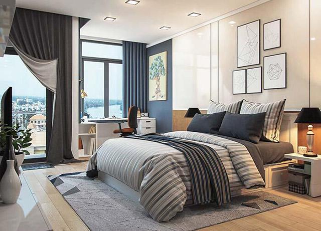 Thiết kế phòng ngủ con trai nhà phố 3 tầng 4x16m
