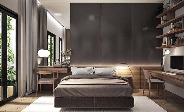 Thiết kế phòng ngủ vợ chồng nhà phố 3 tầng 4x16m