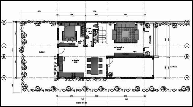 biệt thự 2 tầng 80m2