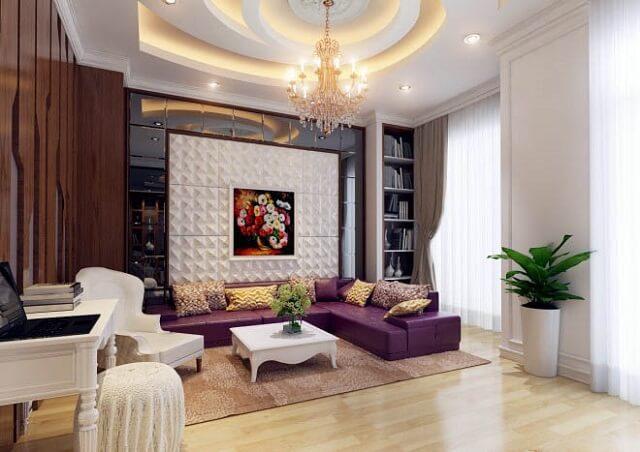 Phòng sinh hoạt chung có phong cách khác biệt, tạo sự thoải mái nhất cho cả gia đình.