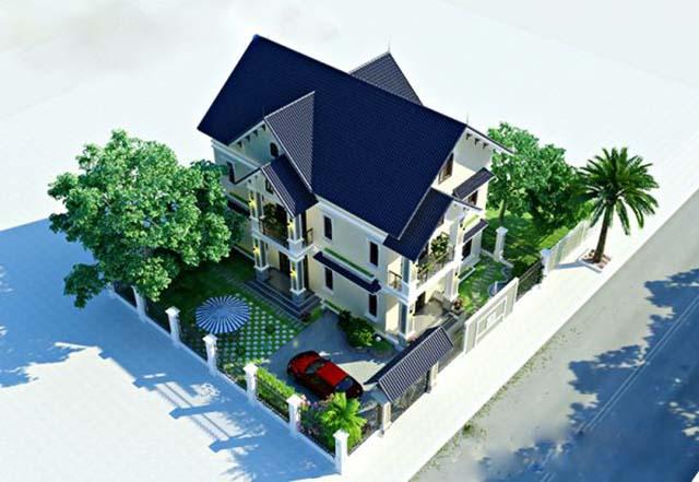 biệt thự vườn 3 tầng mặt tiền 20m-2