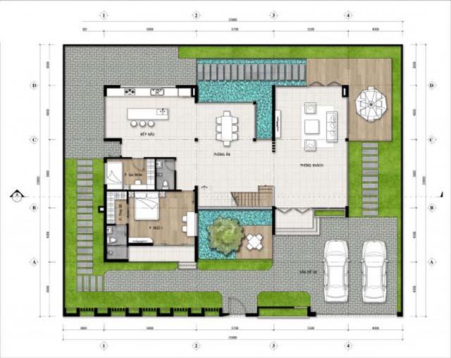 biệt thự hiện đại 3 tầng mặt tiền 25m-3