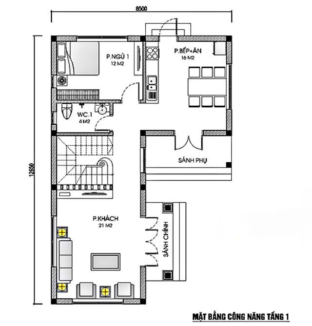 Thiết kế biệt thự hiện đại 9x13m-4