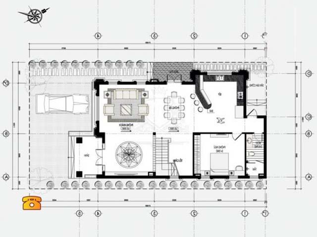 Thiết kế biệt thự tân cổ điển 12x15m-3