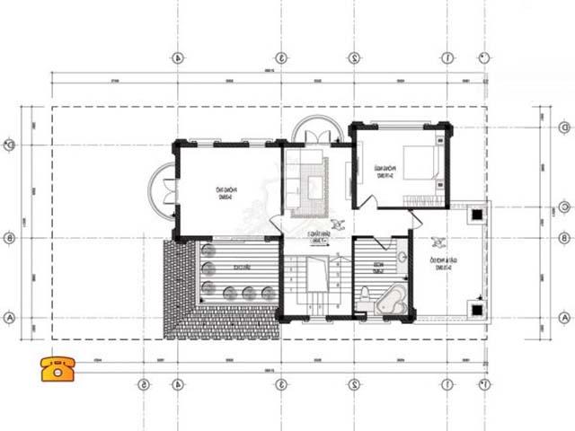 Thiết kế biệt thự tân cổ điển 12x15m-5