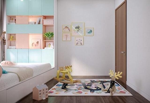 Phòng ngủ của con đáng yêu và nhiều màu sắc.