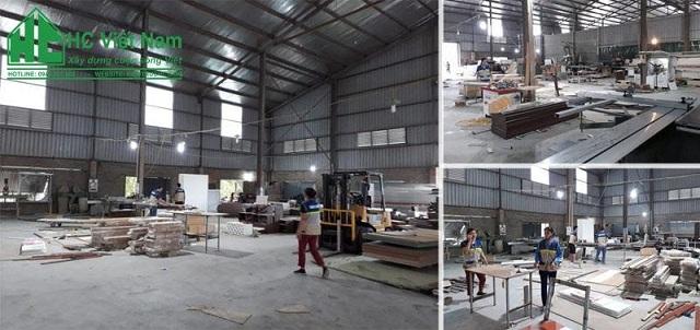 Xưởng sản xuất của công ty kiến trúc HC