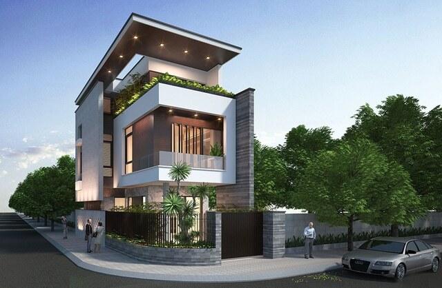 Thiết kế biệt thự 3 tầng 2 mặt tiền 86m2