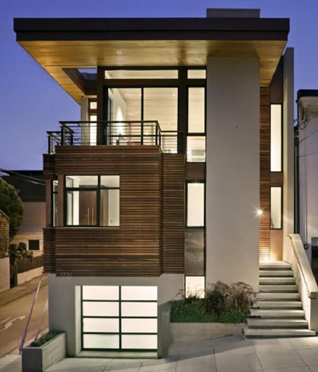 Mẫu nhà 2 tầng 6x10 mái bằng 2