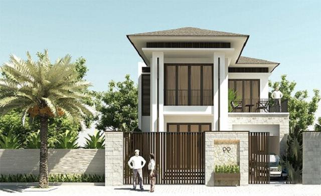 Mẫu nhà 2 tầng 6x10 mái Thái 2