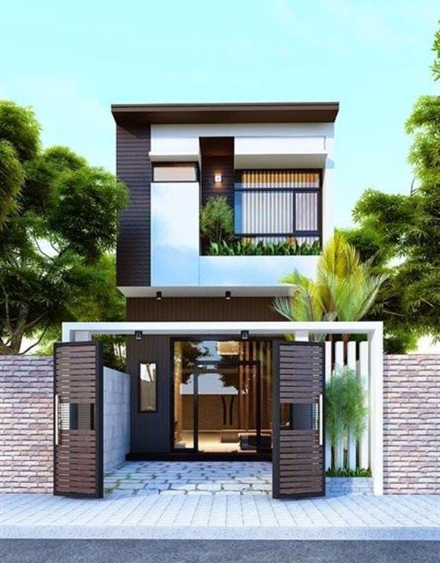 mẫu nhà đẹp 2 tầng 5x15m 1