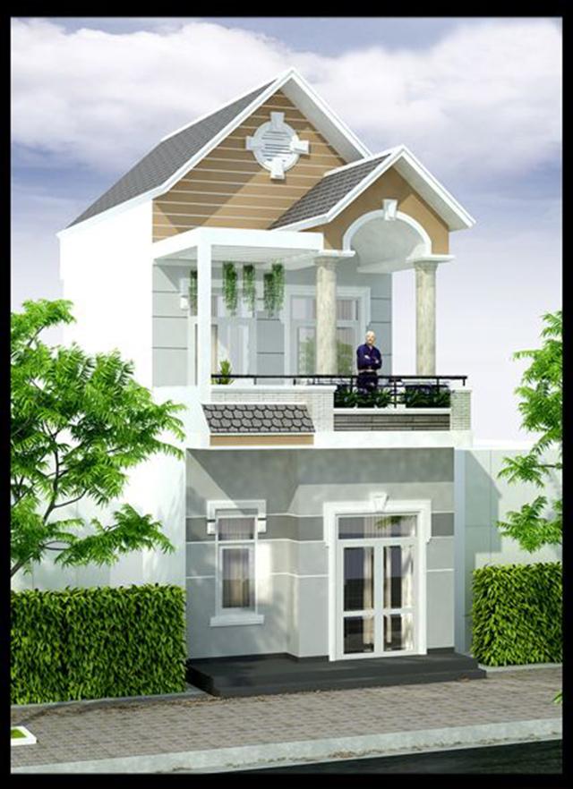 mẫu nhà đẹp 2 tầng 5x15m 10