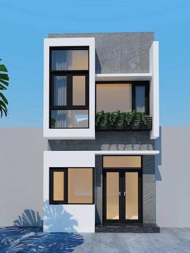 mẫu nhà đẹp 2 tầng 5x15m 2