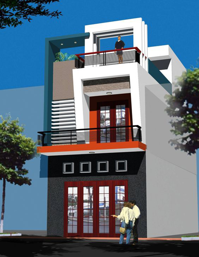 mẫu nhà đẹp 2 tầng 5x15m 5