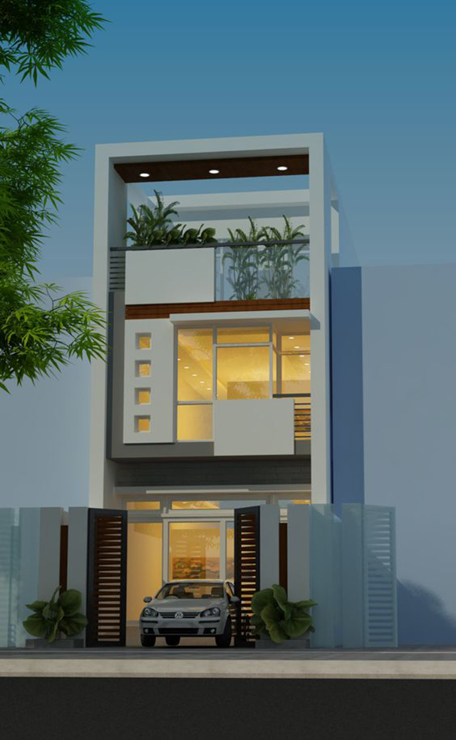 mẫu nhà đẹp 2 tầng 5x15m 6