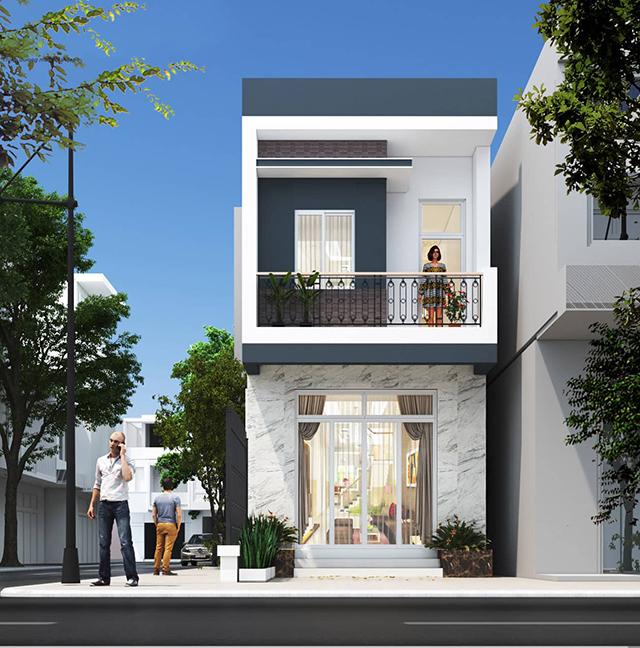 mẫu nhà phố 4x10m 4