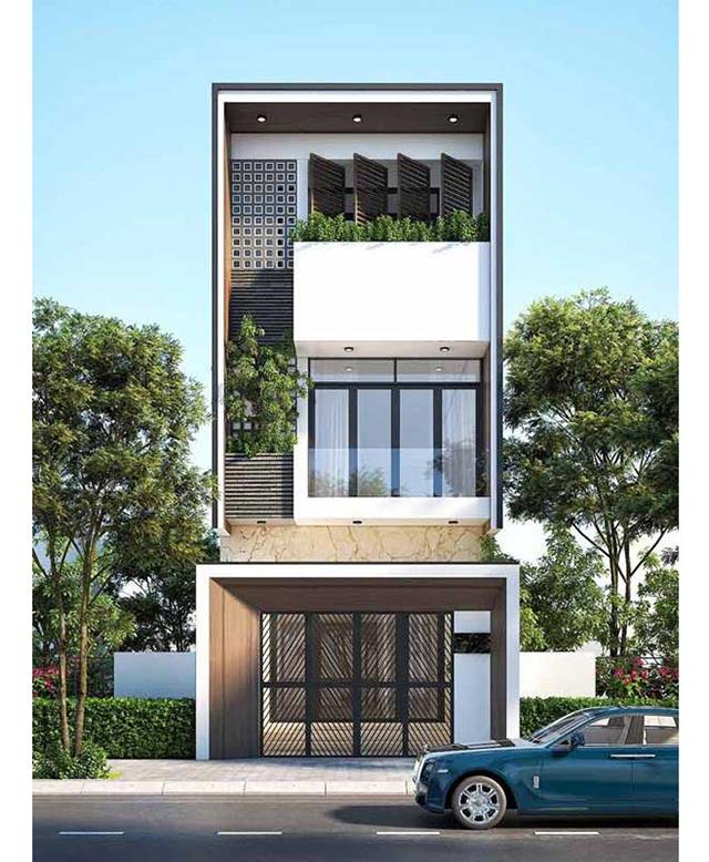 mẫu nhà phố 4x10m 9