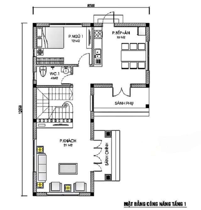 Thiết kế biệt thự hiện đại 9x13m 4