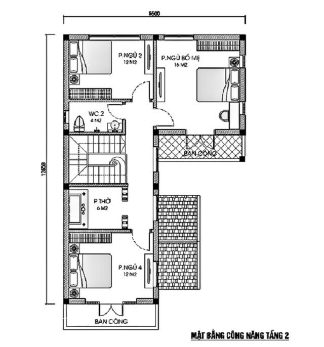 Thiết kế biệt thự hiện đại 9x13m 5