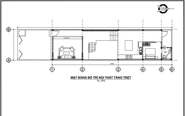 Mẫu thiết kế nhà 2 tầng đẹp 5x20m 12