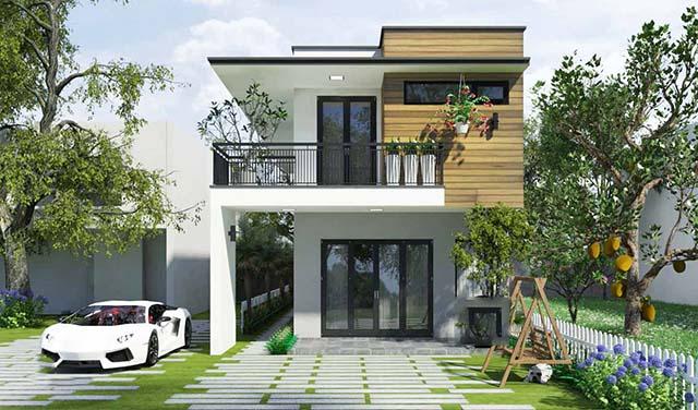 Mẫu thiết kế nhà 2 tầng đẹp 5x20m 13