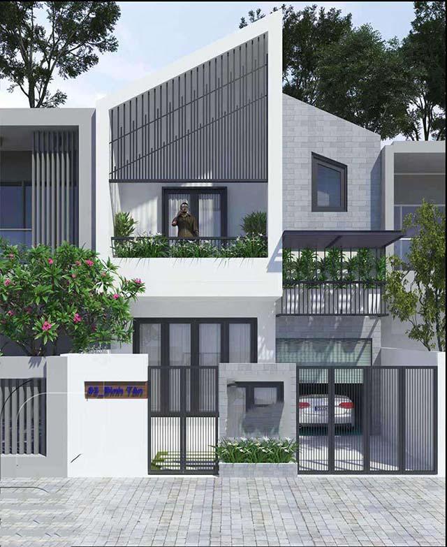 Mẫu thiết kế nhà phố 2 tầng 5x20m 14