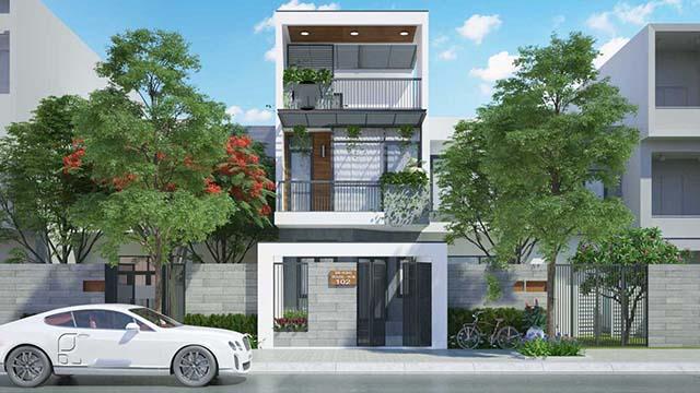Mẫu thiết kế nhà 2 tầng đẹp 5x20m 3