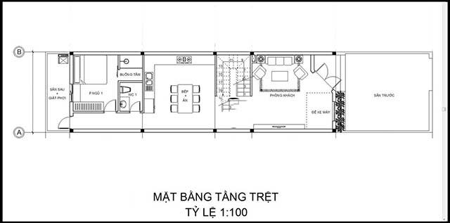 Mẫu thiết kế nhà 2 tầng đẹp 5x20m 4