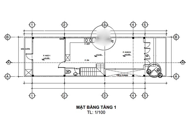 Mẫu thiết kế nhà 2 tầng đẹp 5x20m 8