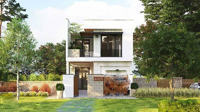 Mẫu thiết kế nhà 2 tầng đẹp 5x20m 9