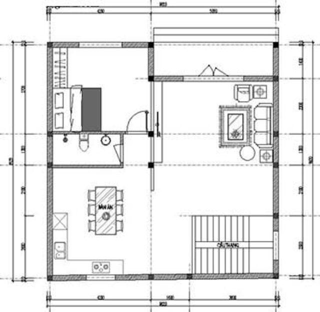 Mẫu thiết kế nhà vuông đẹp 2 tầng mái Nhật 2