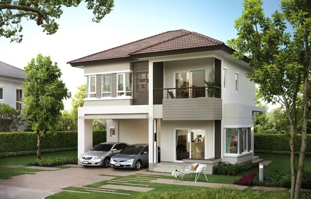 Thiết kế nhà diện tích 10×10m 2 tầng có gara